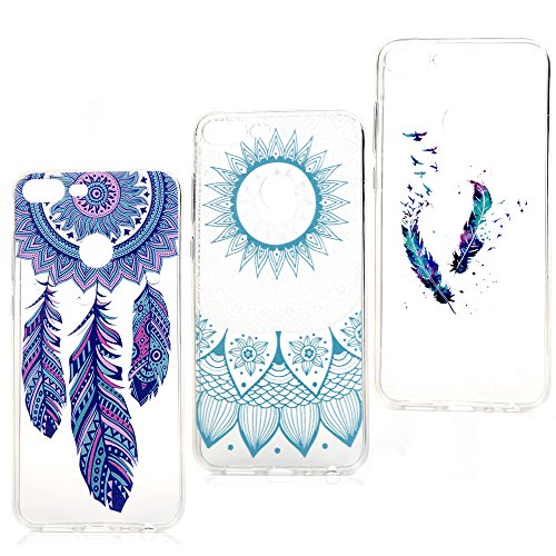 3x Coque pour Huawei Honor 9 Lite LANVY Housse tui TPU Silicone Souple Coque Conception Exquise Cover Gel Doux Case Anti-drapante Coque Huawei Honor 9 Lite Bumper Cover - Groupe 3