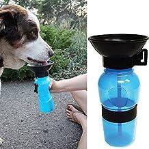 Tuopuda Hund Wasserflasche Unterwegs Reise Trinkflasche für Hunde Haustier Trinkflasche Pet Dog Travel Water Bowl Bottle