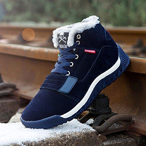 Uomo scarpe invernali Gli sport Scarpe - Juelya Caldo foderato Scarpe da ginnastica Uomini Scarpe da ginnastica Confortevole Allacciare Scarpe da corsa Casuale Scarpe Rosso, Nero, Blu Blu