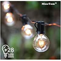 Amazon outdoor string lights outdoor string lights25ft g40 globe light string with 28 clear bulbs indoor aloadofball Images