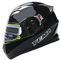 YEMA Helmet YM-829 Casco Integrales con Doble Visera-Negro-XS