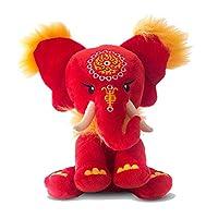 Pink Chillies 25cm Dahong Cuddly Elephant Plush Toy