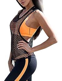 Sport tank tops HARRYSTORE Mujer camisetas deportivas sueltos y elásticos Mujer camisetas sin mangas deportivos mujer chaleco Fitness para correr