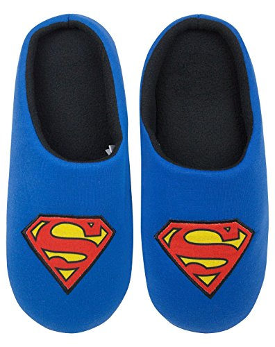 Superman DC Comics Men's Blue Slippers