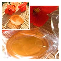 Honey and argan oil shampoo bar wrapped in Biodegradable alternative to plastic