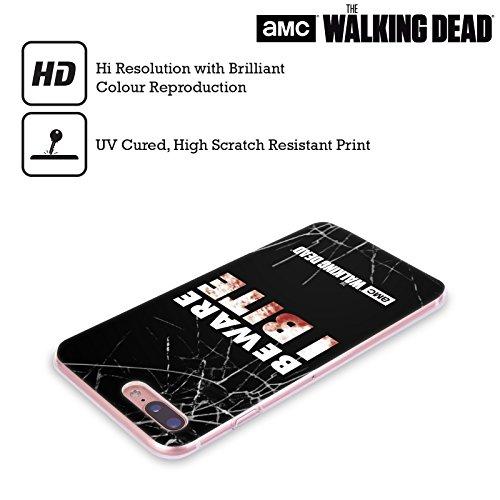 Ufficiale AMC The Walking Dead Dead Inside Tipografia Cover Morbida In Gel Per Apple iPhone 6 / 6s Mordo