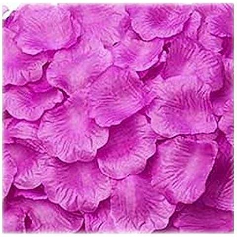 Seta di 100pcs GODHL rosa petali matrimonio partito tabella Home decorazioni fiori (rosso porpora)