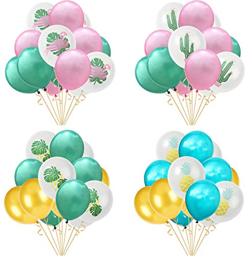 Ototon - palloncini gonfiabili in lattice, fenicottero, cactus, anananas, hawaii, decorazioni per compleanno, matrimonio, festa, spiaggia, 30,5 cm