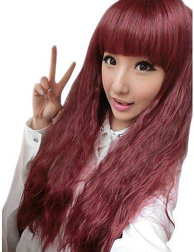 Girl Fashion maïs cheveux bouclés synthétiques Bang Perruques complet