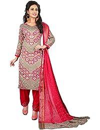 MEGHALYA Women's Satin Cotton Dress Material (V Gulty Satin Cotton Dress-4037)