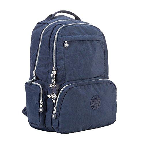 Bopopo Nylon Fashion Beiläufige Taschen SchoolBag Laptop Rucksack Unisex Travel Daypack Blau Blau