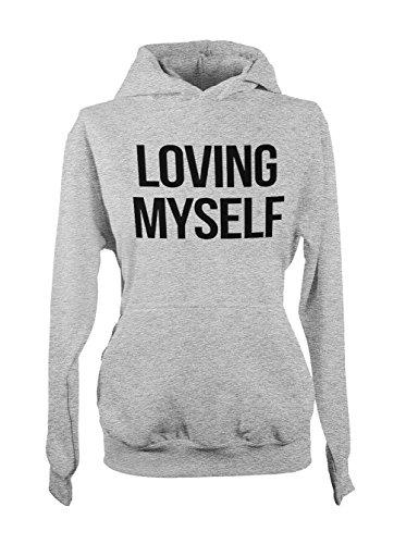Loving Myself Femme Capuche Sweatshirt Gris