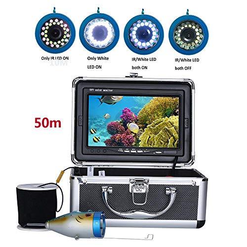 """Jackeylove Unterwasserfischerei Kamera Profession Fish Finder 7\""""Inch 50M 1000TVL 15pcs Weiße LEDs + 15pcs Infrarot-Lampe, für die Feinfischerei"""