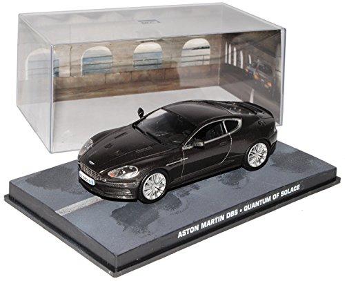 Quantum Vitrine (Ixo Aston Martin DBS Schwarz EIN Minimum an Trost James Bond 007 1/43 Modell Auto mit individiuellem Wunschkennzeichen)