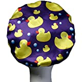 [Patrocinado]Dilly de colecciones de lujo y gran microfibra de la ducha Caps Ultra protectora baño sombrero adulto/adolescente Popular gran diseño de pato, Ducks, X-Large