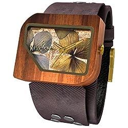 Mistura PELCOFBLKFLOW Pui Wood Pellicano Coffee Jean Black Flowers Watch