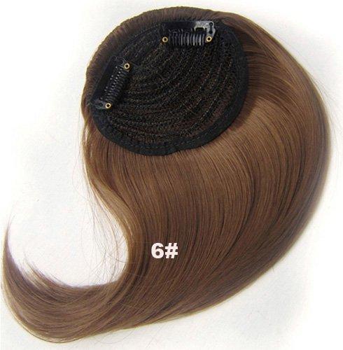 Frange Cheveux synthétique # 6 À clip sur le côté