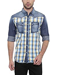 SHOWOFF Mens Multicolor Checkered Casual Shirt