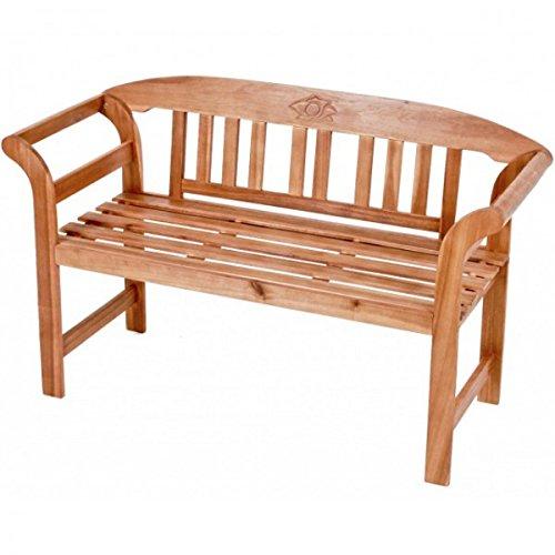 Gartenbank mit ROSE SAN JOSE 2-sitzer Akazie Sitzbank Gartenmöbel Landhausbank Parkbank Holz NEU