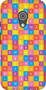 The Racoon Lean printed designer hard back mobile phone case cover for Moto G 2nd Gen. (Alphabet T)