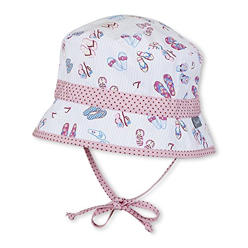 Sterntaler - Filles chapeau d'été pour attacher avec du ruban tongs, blanc - 1411701 Blanc