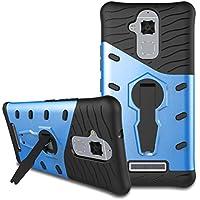 Custodia Asus Zenfone 3 Max ZC520TL Case, Viflykoo HEAVY DUTY Custodia Protettiva Rigida con Supporto Rotazione di 360 Gradi Cover per Asus Zenfone 3 Max ZC520TL Smartphone - Blu