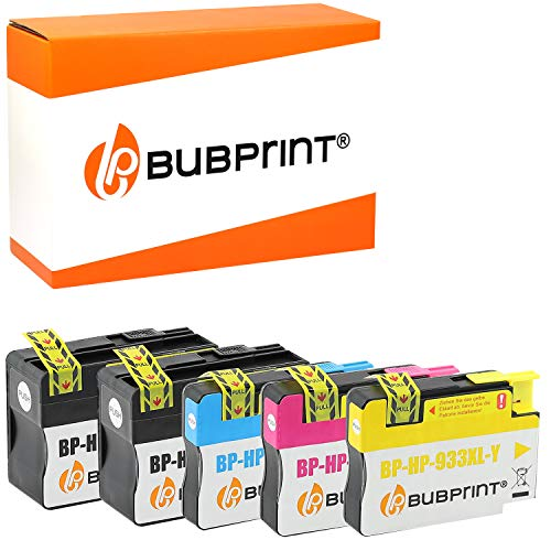 Bubprint 5 Druckerpatronen kompatibel für HP 932XL 933XL für Officejet 6100 e-Printer 6600 e-All-in-One 6700 Premium 7110 7510 7610 7612 Wide Format - Drucker-tinte 933xl Hp
