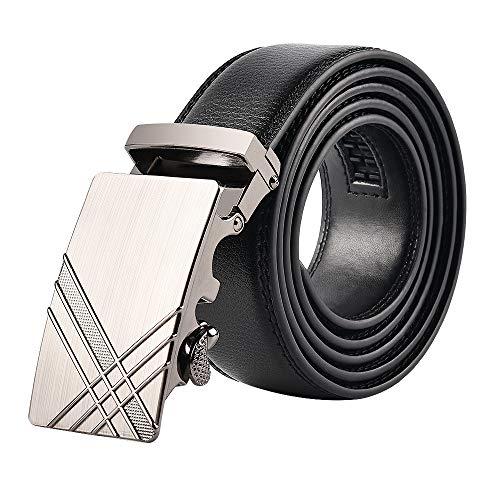 KEYNAT Ledergürtel Gürtel Herren Echtleder Business Anzüge Casual Reversible Schnalle Mit Automatischer Ratsche Ratchet Dress Belt (Style-16) - Reversible Herren Gürtel