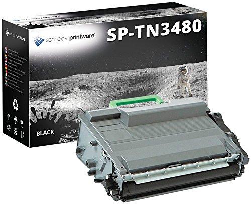Schneider Printware Toner 50% höhere Reichweite kompatibel zu Brother TN-3480 TN3480 für Brother HL-L5000d HL-L5100dn HL-L5100dntt DCP-L5500dn MFC-L6800dw MFC-L5750dw HL-L5100dnt -