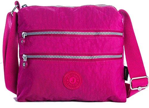 Big Handbag Shop - Borsa a tracolla unisex (Rosa)