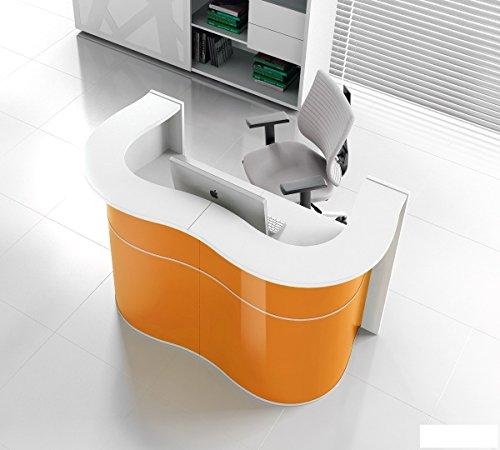 empfangstheke friseur Empfangstheke WAVE orange Empfangstresen Rezeption Bürotheke