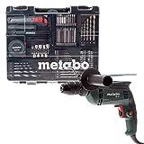 Metabo Schlagbohrmaschine SBE 650 Mobile Werkstatt mit 55-teiligem Zubehörset, 600671870