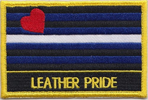 Piel orgullo Gay bandera bordada Rectangular parche Badge