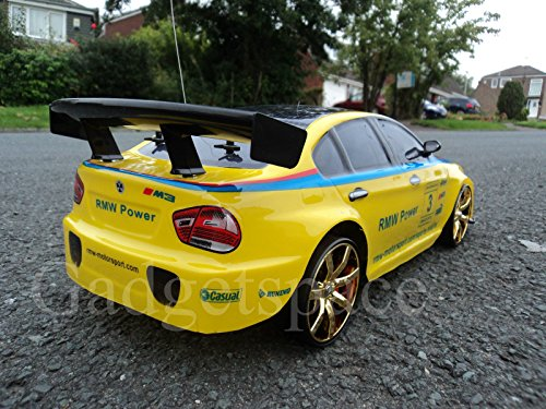 RC Drift Car kaufen Drift Car Bild 1: YELLOW BLACK COUPE 4WD DRIFT RADIO REMOTE CONTROL CAR 1 10 FREE TYRES NEW RAPID FAST SPEED by Action Ford Ltd*