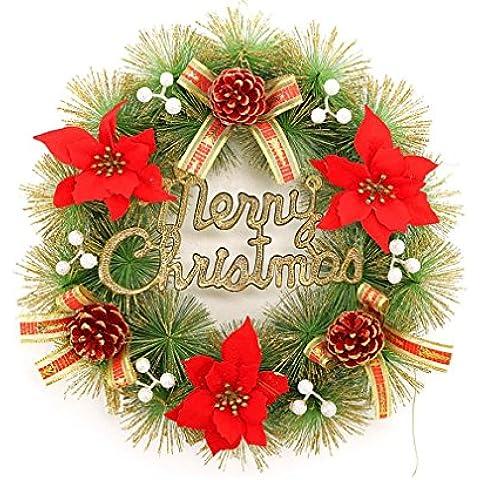 G&M Arco del vestito d'oro rosa Ghirlanda sospensione di Natale 40 centimetri Ananas Ginkgo per gli anziani