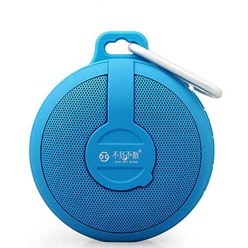 QYQ Drahtloser Bluetooth-Sprecher-im Freien tragbarer Mini Card Small Sound-Auto Subwoofer für Haus oder Reise (Farbe : Blau)