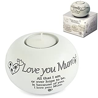 Said with sentiment by Arora Design - Love You Mum - Tea Light Holder