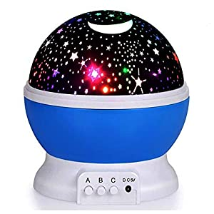 Elecstars ES0 Blue Star Night Light Projector, Colourful Night Lamp for Kids Children Rotating 3 Modes Romantic Magical Gift Present Toys Sleeping Aid