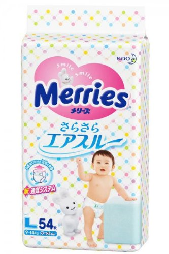 Couches Merries L (9-14 kg)// Japanese diapers nappies Merries L (9-14 kg)// ???????? ?????????? Merries L (9-14 kg)