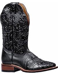 Botas americanas–Botas cowboy bo-5167-c (pie normal)–Mujer–Piel–Negro