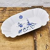 Pommesschale Porzellan - Handgemacht von Ahoi Marie - Motiv Hafenkneipe - Maritime Currywurst-Schale original aus dem Norden