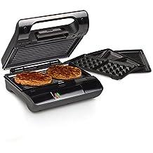 Princess Grill Compact Pro - Sandwichera-Parrilla compacta y multiuso, 23 x 13 cm, color negro