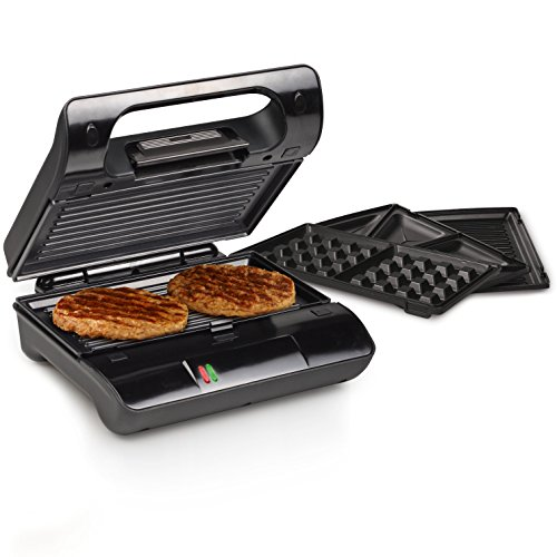 Princess 117002 Multi Sandwich Grill Compact Pro – Parrilla con placas intercambiables,...