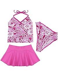dc1f92899a846e Tiaobug Kinder Mädchen Badeanzug Bademode Bikini Bade Set Tankini Kleidung  98 104 110 116 140 152