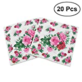 BESTOYARD Blumenserviette Floral bedruckte Serviette Papier für Hochzeit Geburtstag Geschenkparty 20Pcs 33x33cm