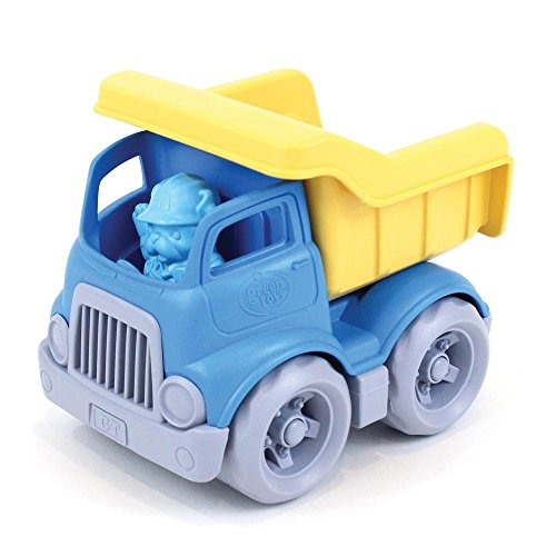 Green Toys Dumper Truck with Open-Box Bed and Figure