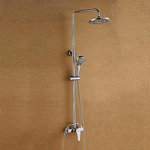 LLYY-Riscaldatore di acqua di rame set calda e fredda acqua di miscelazione valvola rubinetto top bagno chrome rubinetto a scomparsa