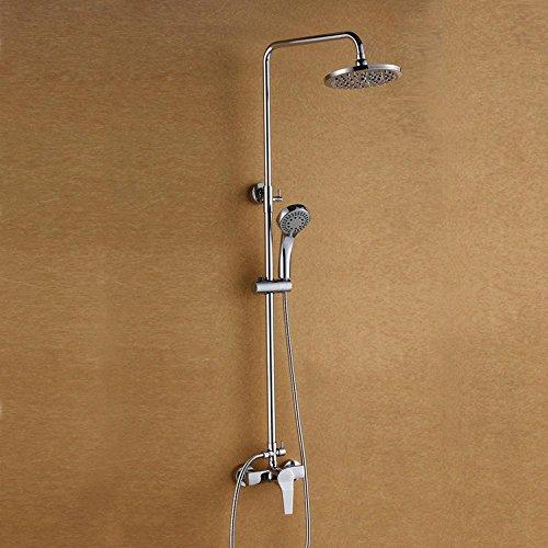 BIAN-Riscaldatore di acqua di rame set calda e fredda acqua di miscelazione valvola rubinetto top bagno chrome rubinetto a scomparsa
