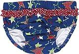 Playshoes Baby - Mädchen Schwimmwindel Badewindel, Badehose Sterne, UV-Schutz nach Standard 801 und Oeko-Tex Standard 100, Gr. 74 (Herstellergröße: 74/80), Blau (original 900)