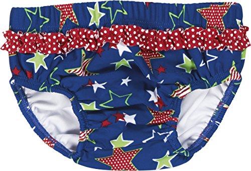 Playshoes Baby - Mädchen Schwimmwindel Badewindel, Badehose Sterne, UV-Schutz nach Standard 801 und Oeko-Tex Standard 100, Gr. 86 (Herstellergröße: 86/92), Blau (original 900)